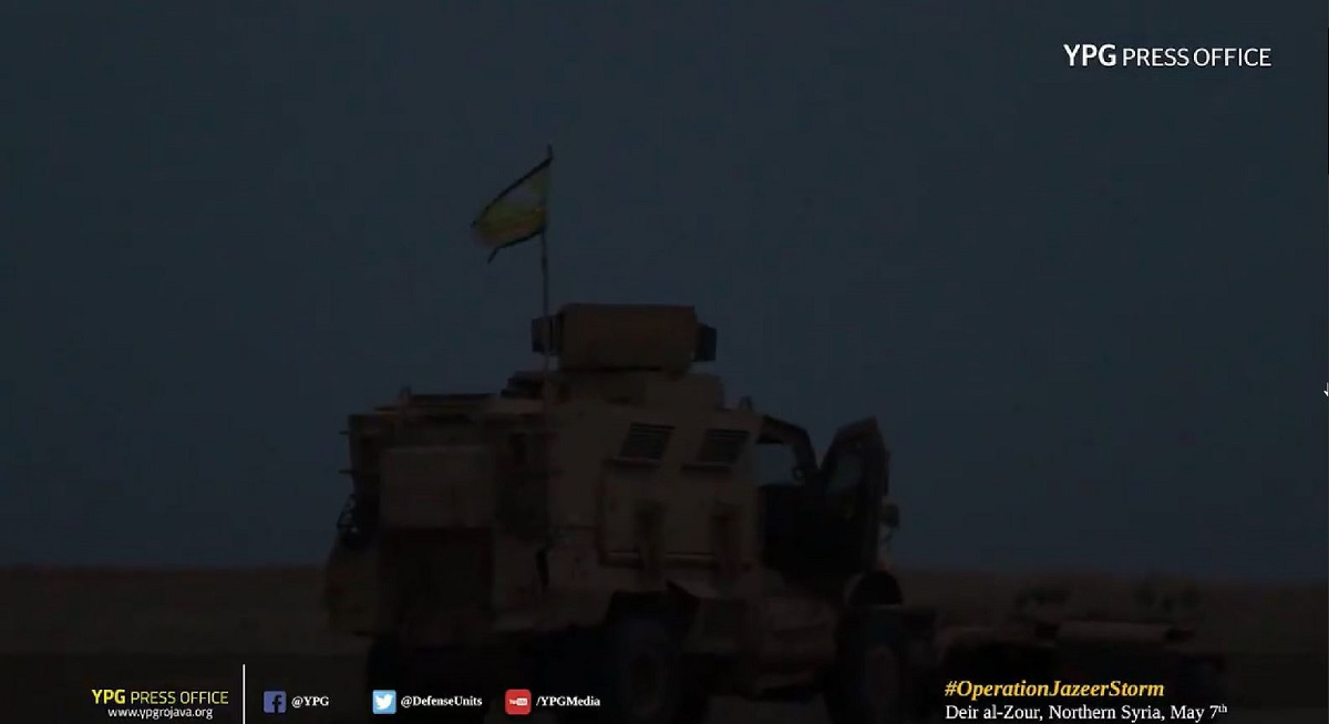 US-backed Syrian fighters spotted in MRAPs prior to ISIS assault