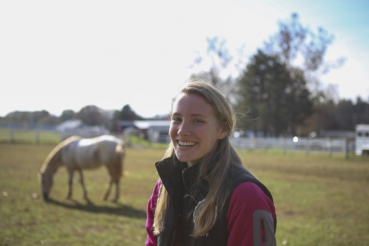 Tessa Hassett has been an instructor at NVTRP for three years. She first became involved when her younger sister came to the program for therapeutic riding in 2002. (Andrea Scott/Staff)