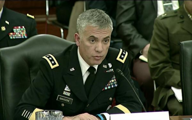 Lt. Gen. Paul Nakasone testifies on the Army's cyber postures at a hearing of the Senate Armed Services Committee's Subcommittee on Cybersecurity on March 13, 2018. (U.S. Defense Department)