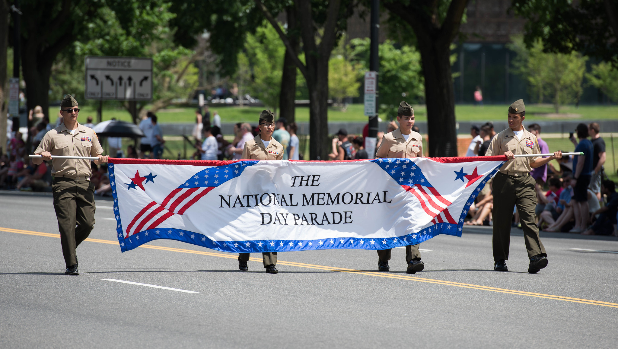 Soldiers assigned to the 3d U.S. Infantry Regiment (The Old Guard), participate in the National Memorial Day Parade in Washington on May 29, 2017. (U.S. Army photos by Sgt. George Huley/Army)