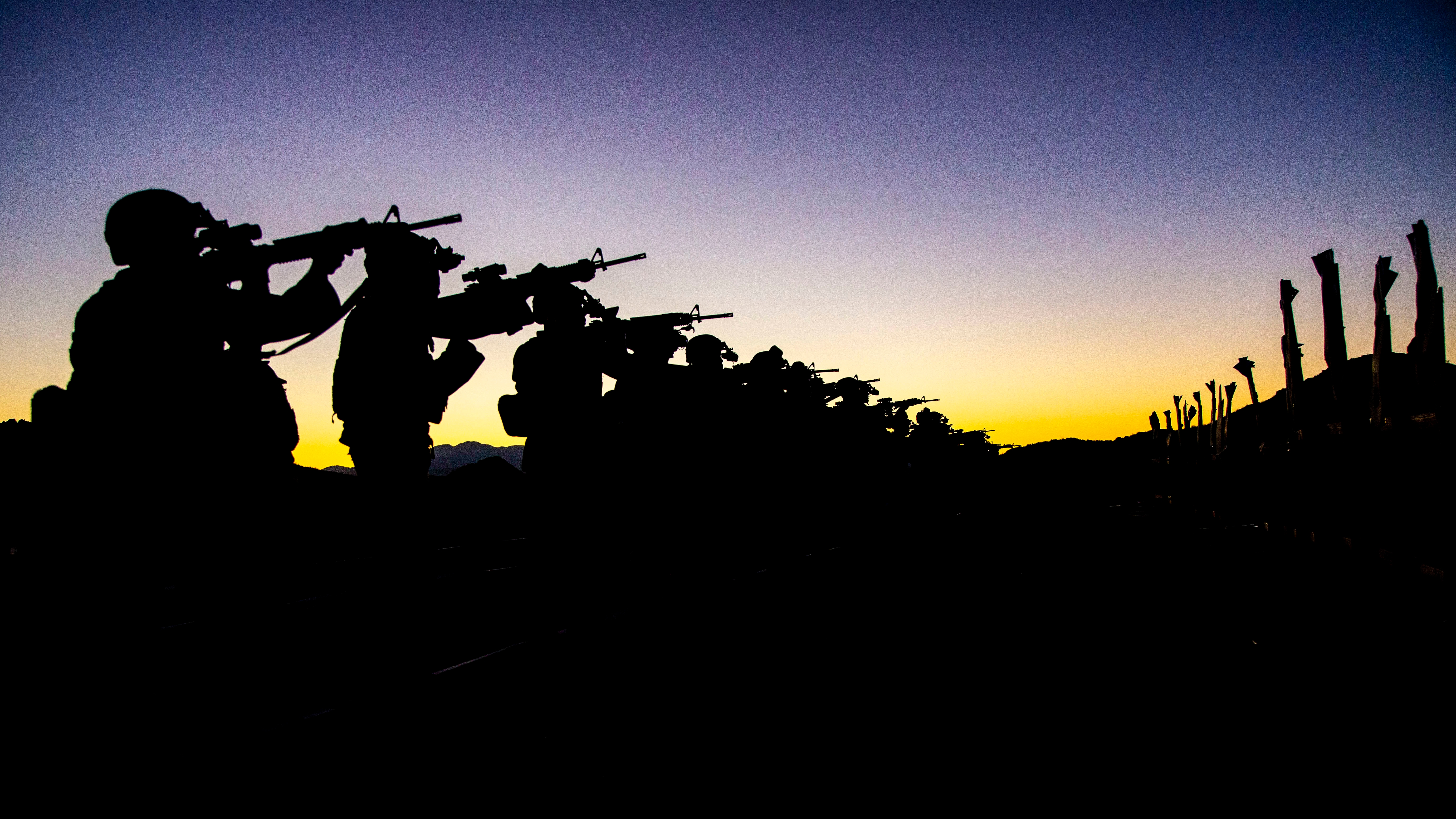 Marines with Combat Logistics Battalion 4, 3rd Marine Logistics Group, qualify for Combat Marksmanship Program tables 3-6 during Integrated Training Exercise 1-19 on Camp Wilson, Marine Corps Air Ground Combat Center Twentynine Palms, California, Oct. 17, 2018. CLB-4 Marines worked to qualify for the CMP tables in order to ensure combat readiness. (Cpl. Joshua Pinkney/Marine Corps)