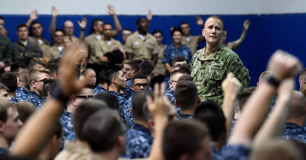 Navy's top enlisted leader takes leave amid investigation