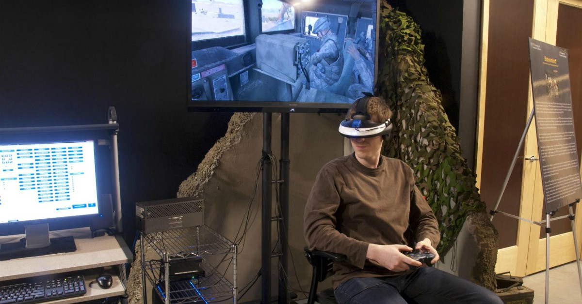 Virtual reality therapy has helped veterans with chronic pain, as well as those struggling with PTSD. (University of Southern California Institute for Creative Technologies)