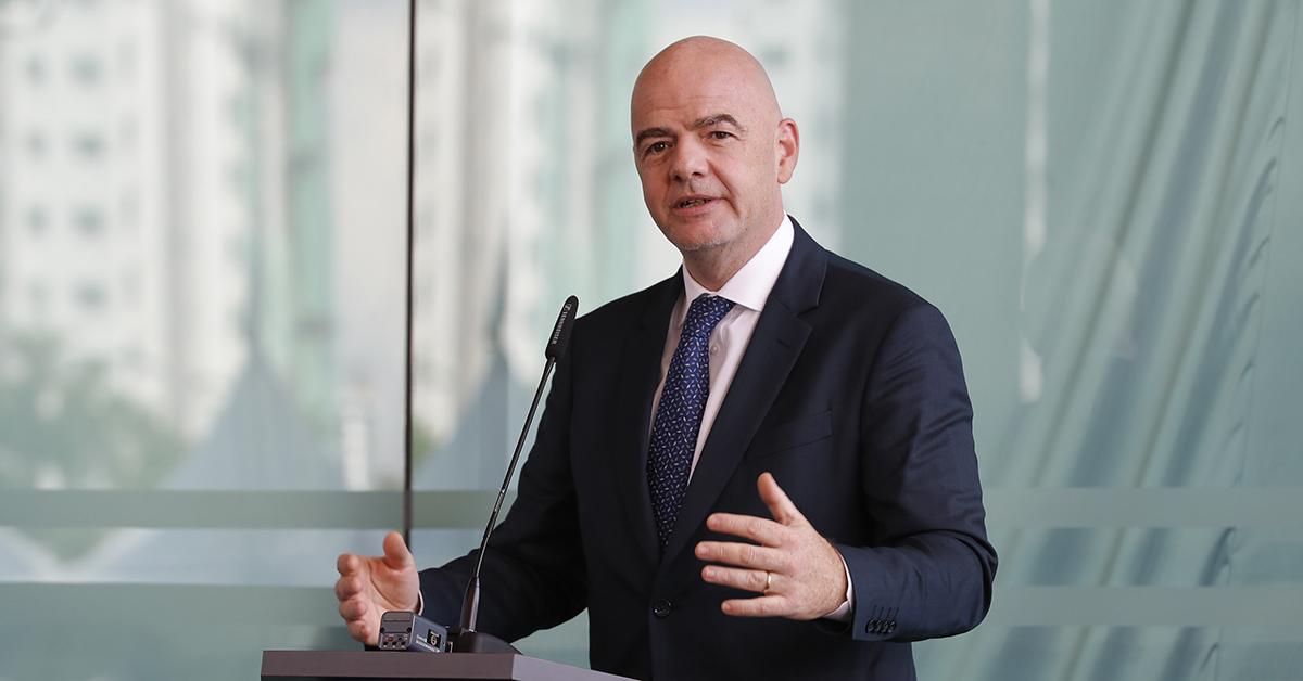 FIFA President Gianni Infantino speaks during an inauguration ceremony for the new building of the Asia Football Confederation in Kuala Lumpur, Malaysia, Tuesday, Oct. 30, 2018. (Vincent Thian/AP)