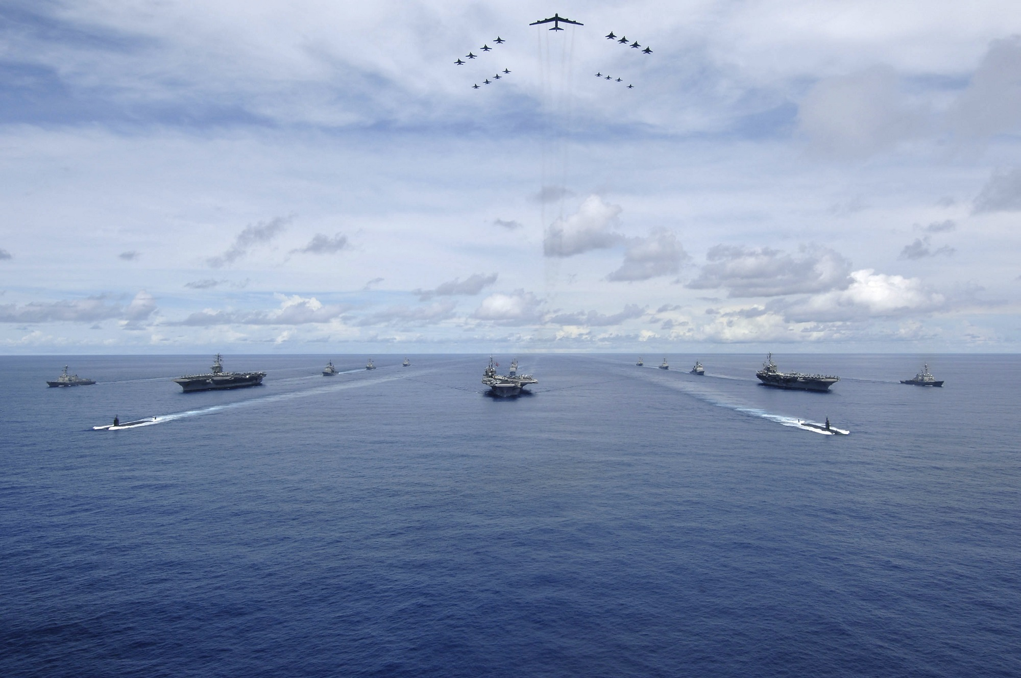 Three carrier strike groups to unite for west Pacific exercise
