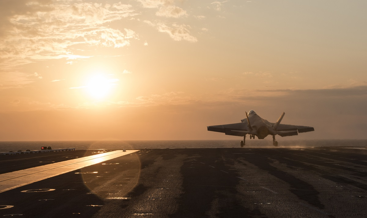 Lockheed Martin is considering whether to recompete the F-35's electronic warfare and communications systems to cut costs on the program. (Staff Sgt. Peter Thompson/U.S. Air Force)