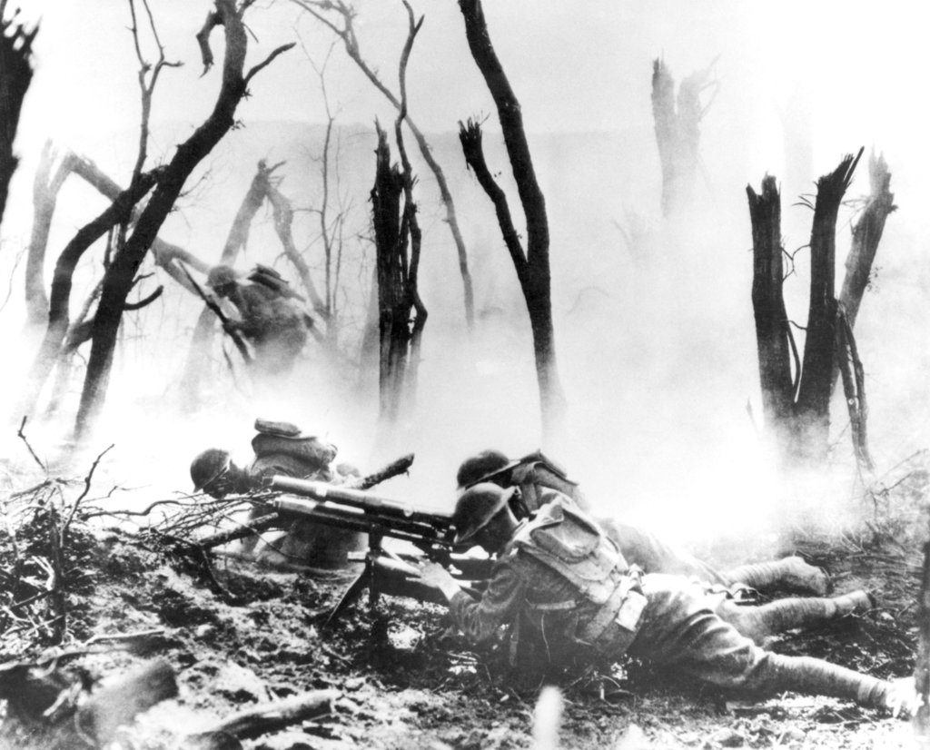 In this Sept. 26, 1918, file photo, a U.S .Army 37-mm gun crew man their position during the World War I Meuse-Argonne Allied offensive in France. It was America's largest and deadliest battle ever, with 26,000 U.S. soldiers killed and tens of thousands wounded. A hundred years ago, the Meuse-Argonne offensive contributed to bring an end to of World War I. (AP)