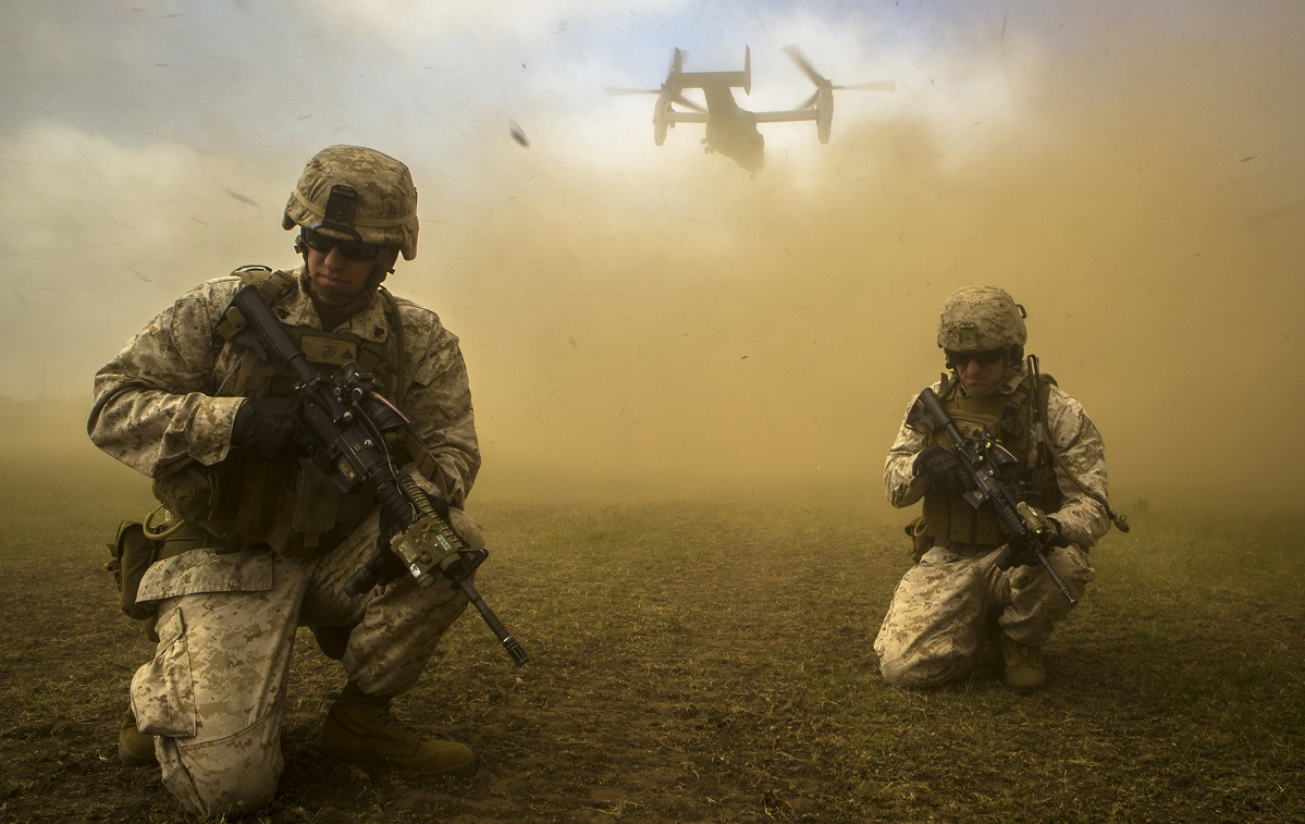 """The shift back to MEF war fighting is unique to II MEF, mostly because Marine leadership has viewed I MEF for decades as the primary """"warfighting MEF."""" (Sgt. Paul Peterson/Marine Corps)"""