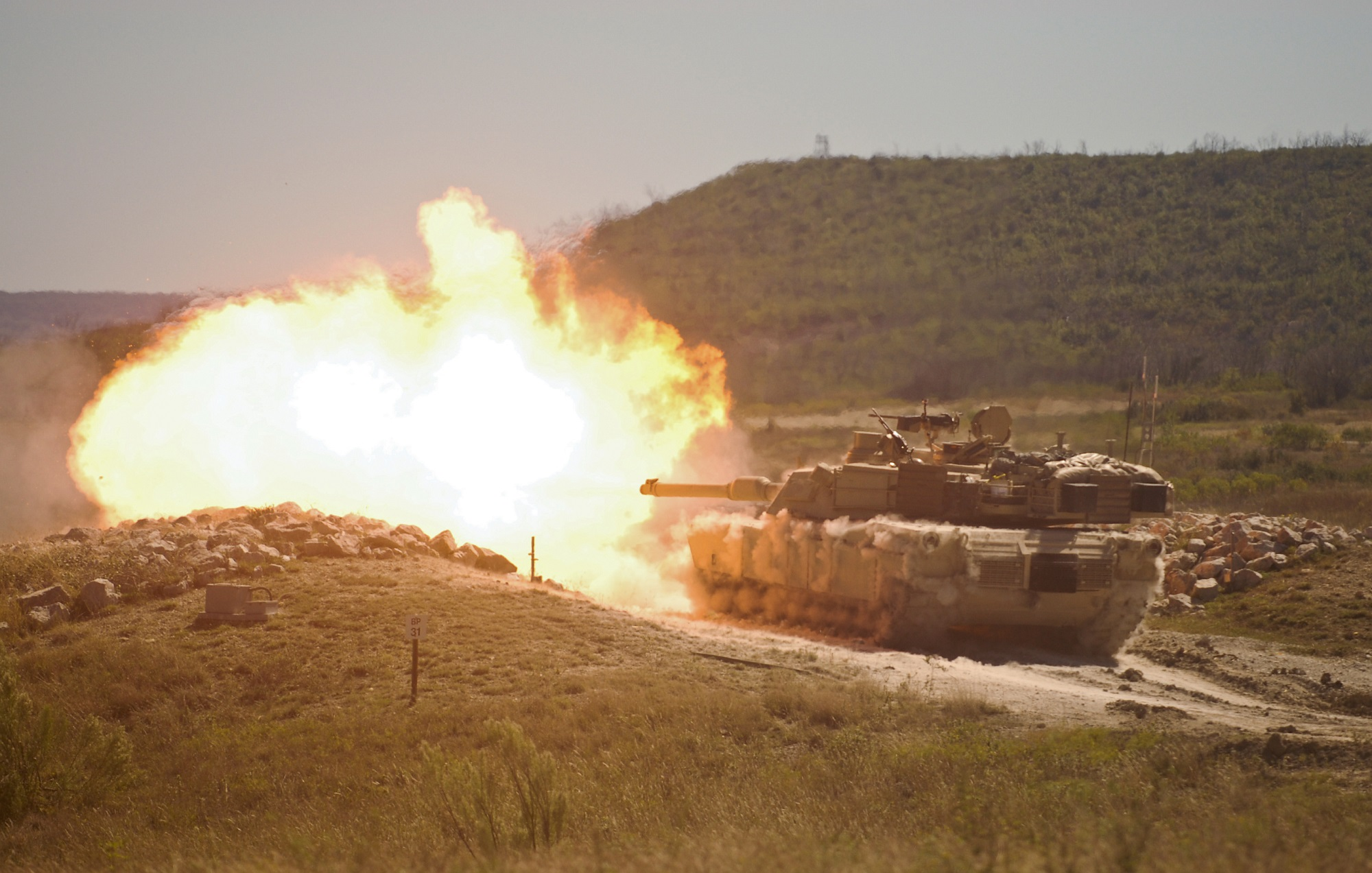 Army leaders say the replacement for the Abrams tank, shown here, will be packed with sensors for better situation awareness. (Maj. Adam Weece/U.S. Army)