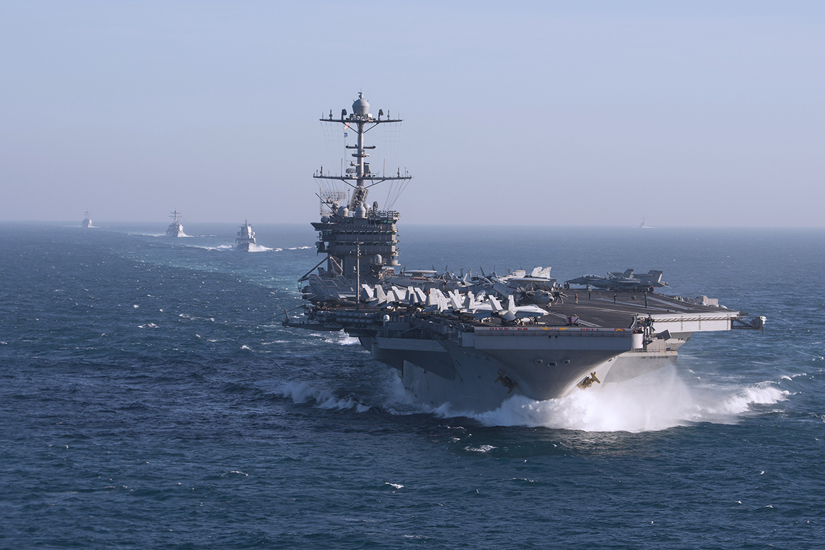US weighs keeping carrier strike group in Europe as a check on Russia