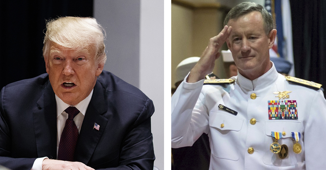 President Donald Trump had some choice words for retired SEAL Adm. William McRaven. (Evan Vucci/AP; MCS Peter D. Lawlor/Navy)