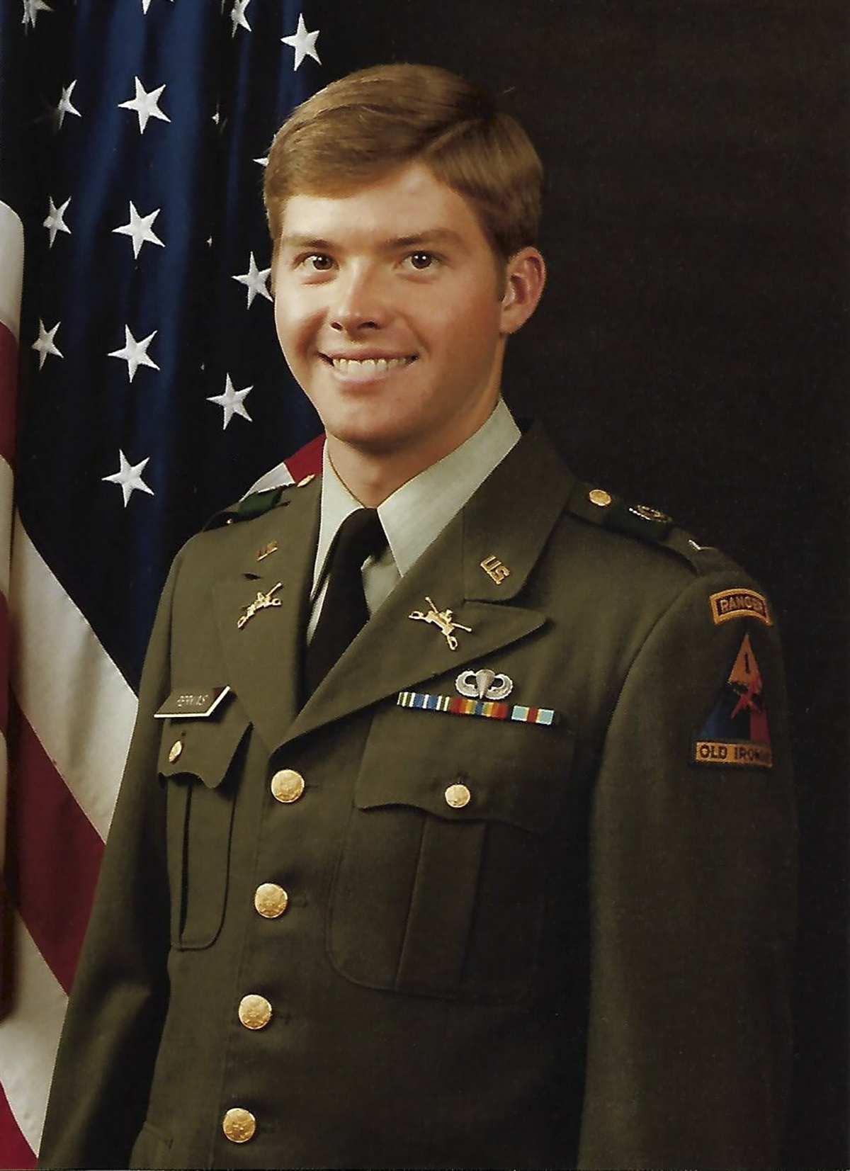 2LT David Perkins' unit photo in April 1981. (Army)