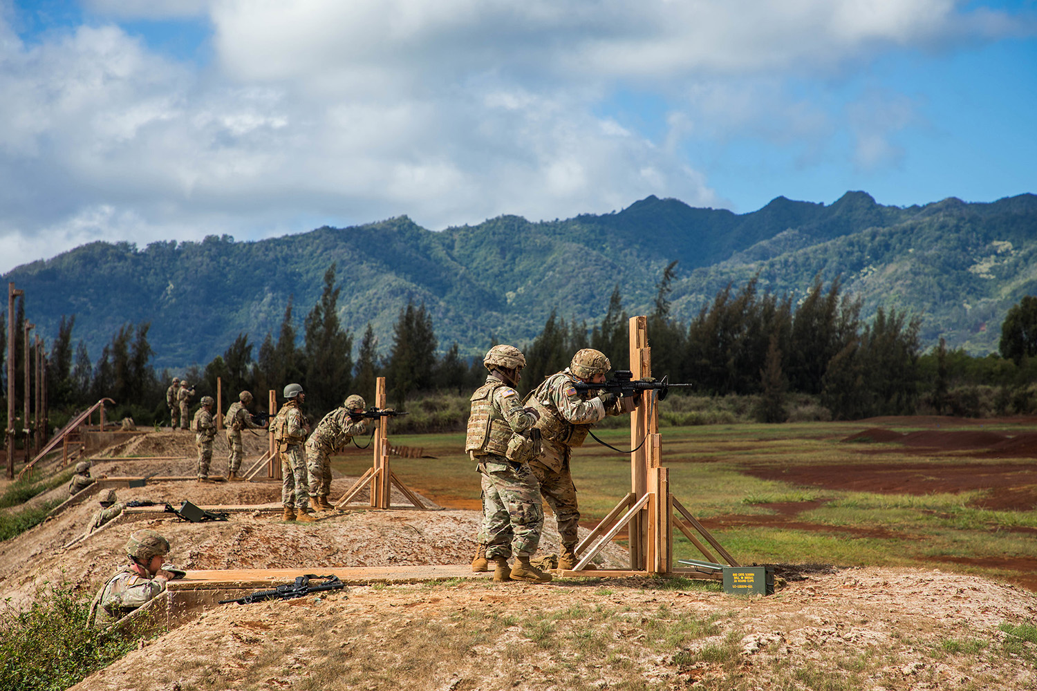 Soldiers across the 25th Infantry Division prepared for the new marksmanship standards on Sept. 16, 2019, by conducting a pilot program to assess current installation support capabilities at Schofield Barracks, Hawaii. (Sgt. Sarah D. Sangster/Army)