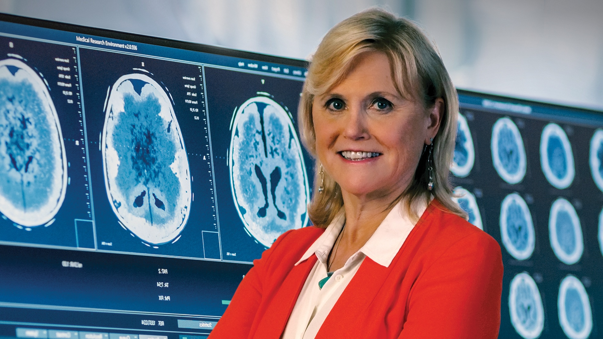 Ann McKee, chief of neuropathology at the VA Boston Healthcare System and recipient of the Paul A. Volcker Career Achievement Award. (Braun Film and Video, Inc.)