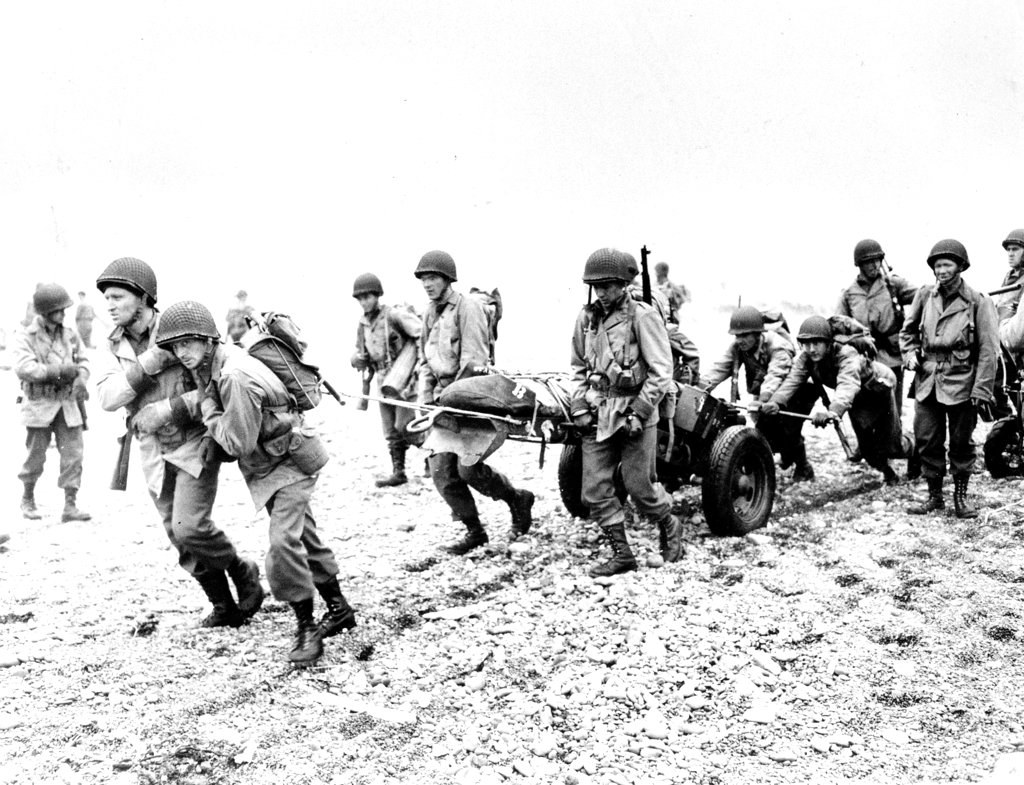 In this June 23, 1943, file photo, U.S. Army reinforcements land on a beach during World War II on Attu Island, part of the Aleutian Islands of Alaska. May 30, 2018 will mark the 75th anniversary of American forces recapturing Attu Island in Alaska's Aleutian chain from Japanese forces. It was the only World War II battle fought on North American soil. (AP)