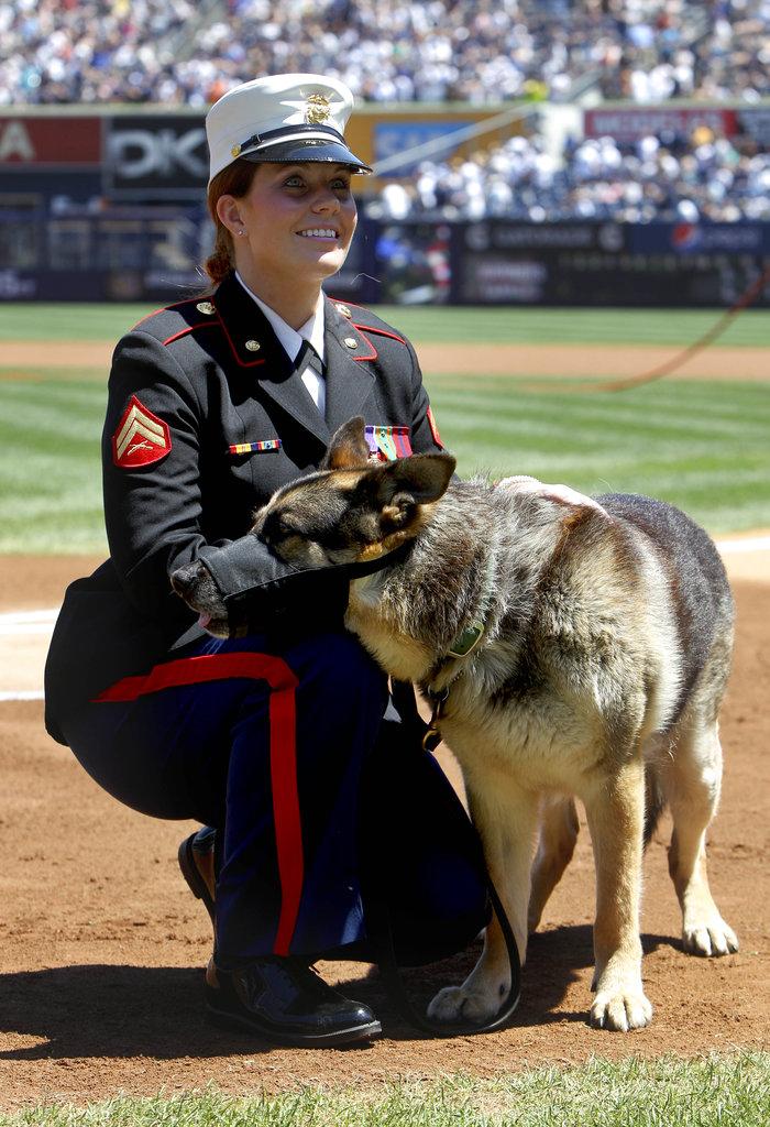 Honors for Iraq vet, K-9 portrayed in film 'Megan Leavey'