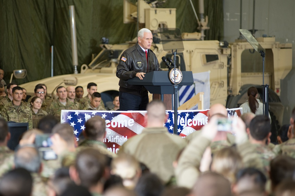 Pence promises US will stay in Afghanistan fight 'to the end'