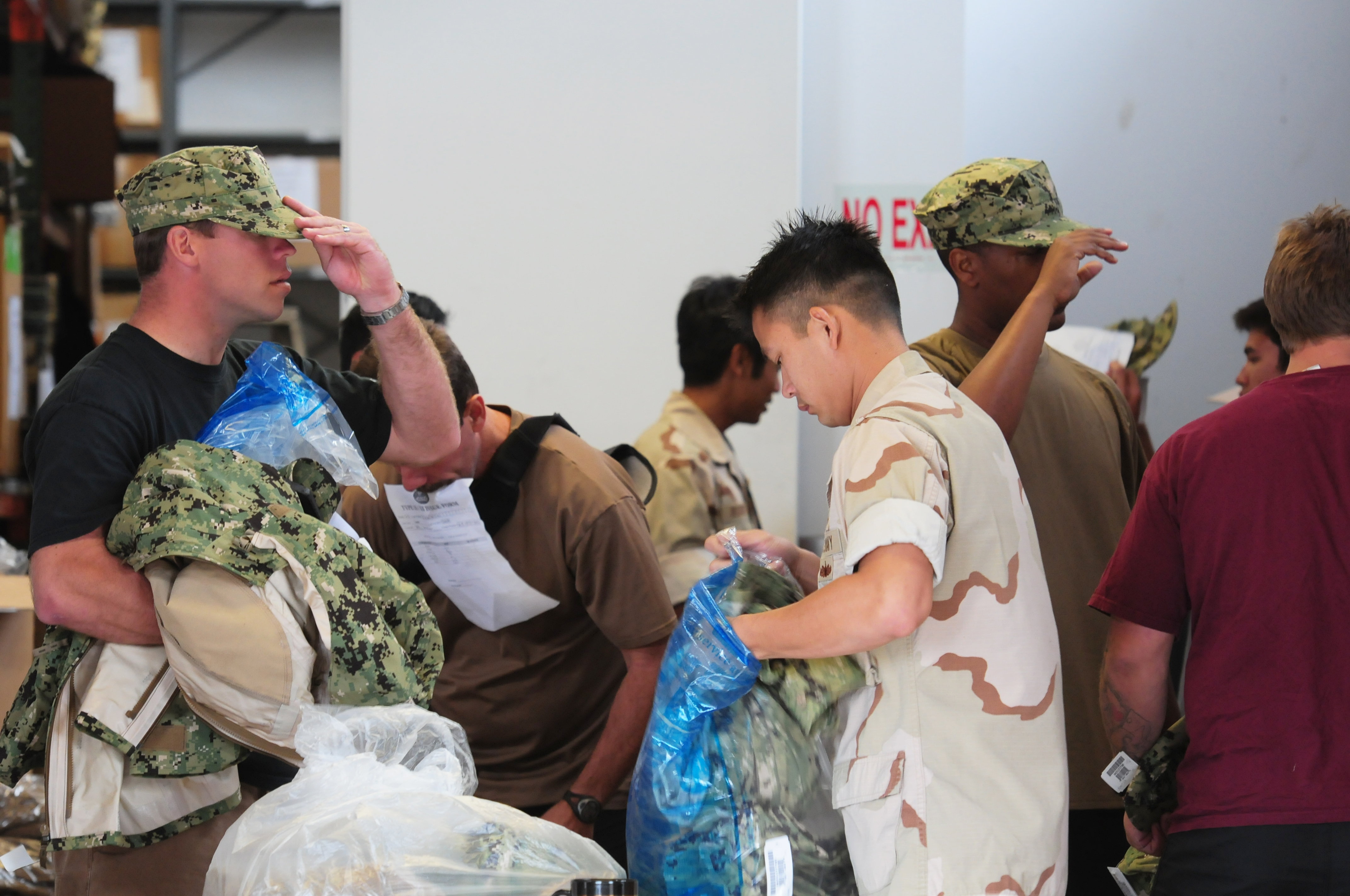 Every sailor is getting a new camouflage uniform