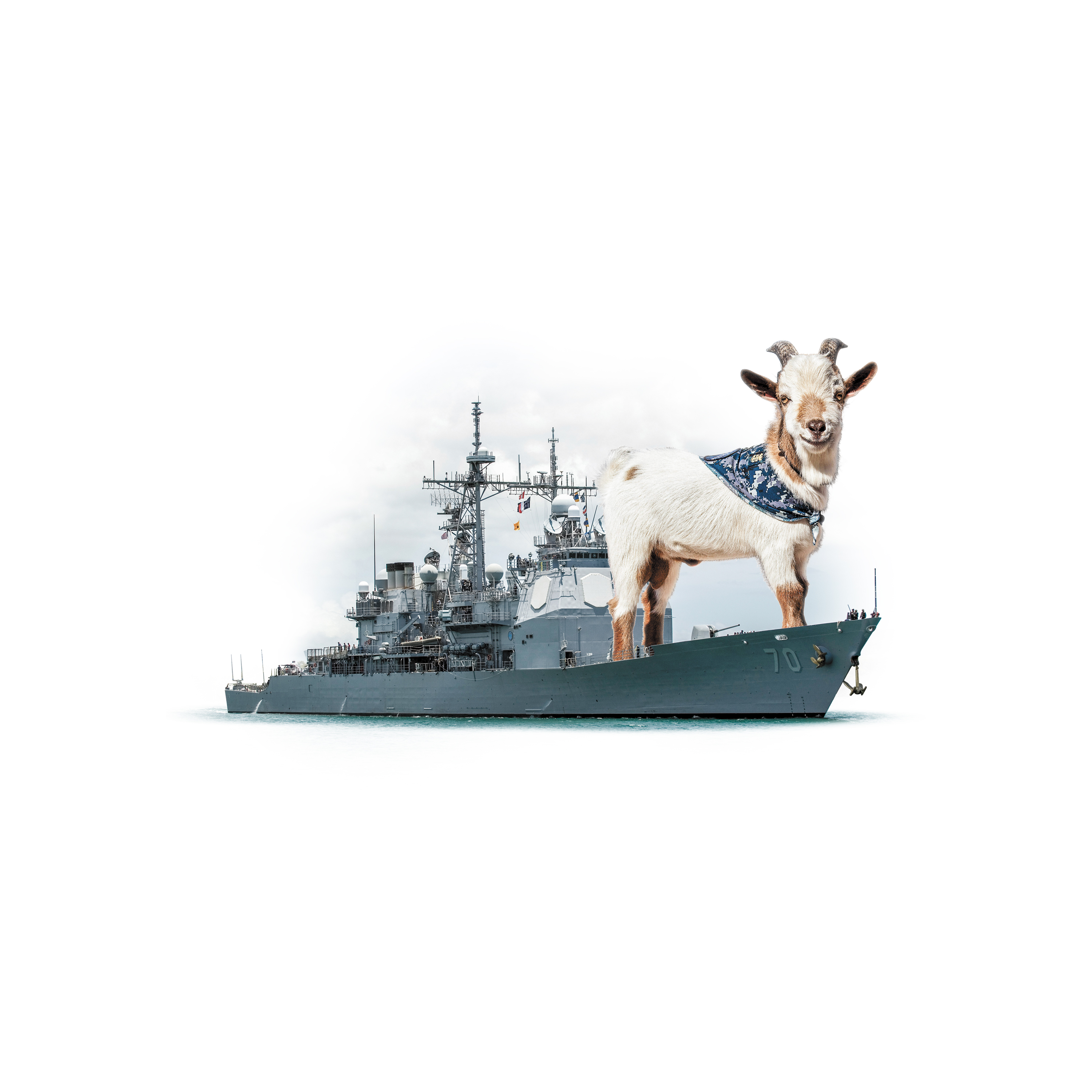 report long hours a nosy co a pet goat aboard cruiser lake erie
