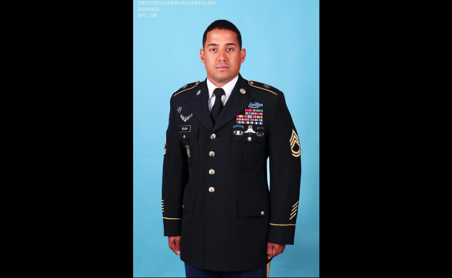 Master Sgt. Luis F. DeLeon-Figueroa was one of two Green Berets killed in action Aug. 21, 2019, in Afghanistan.