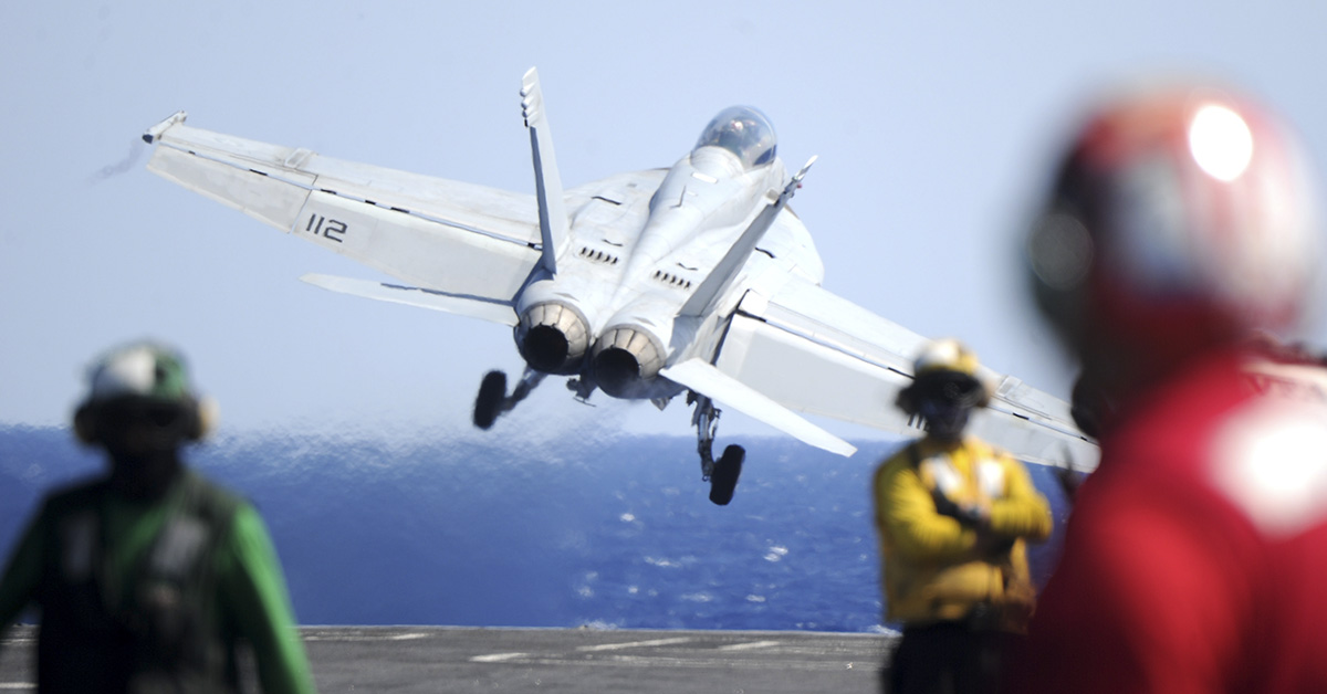An F/A-18F Super Hornet assigned to the