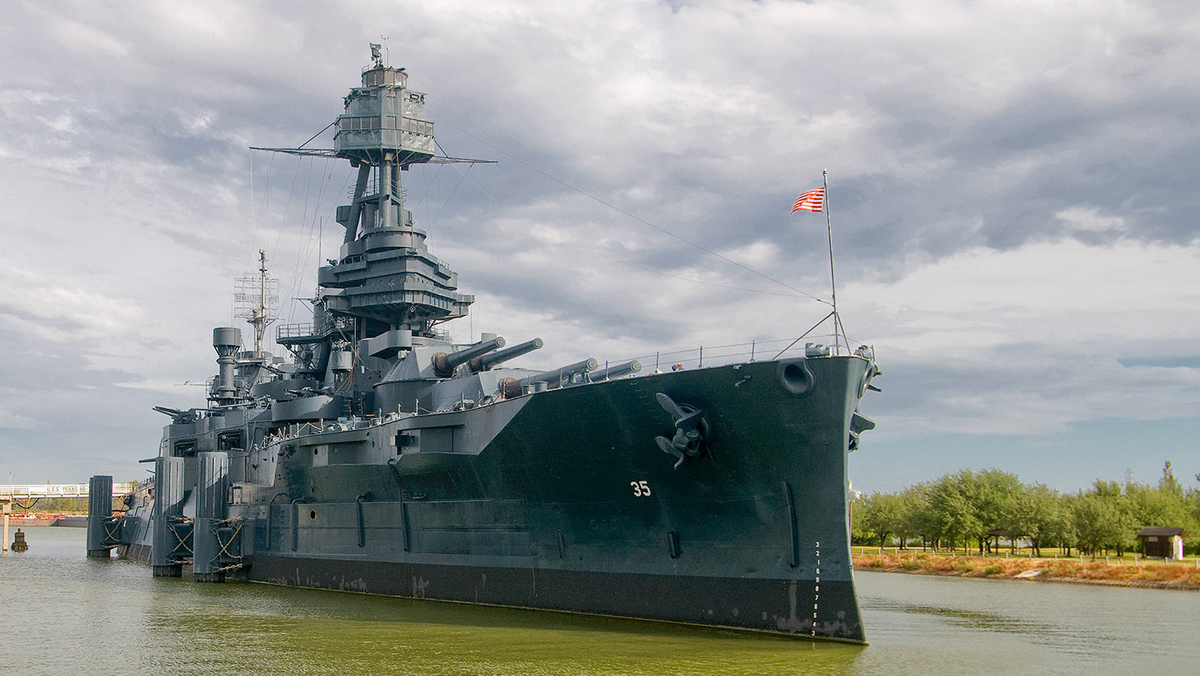The museum ship Texas is closed for a lengthy repair project and no reopening date has been set at its longtime home in La Porte. (Texas Parks & Wildlife)