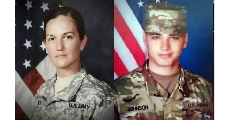 Sgt. Holli Bolinski, left, and Spc. Jackson Johnson were killed in a vehicle accident in Kuwait on March 5. (Army)