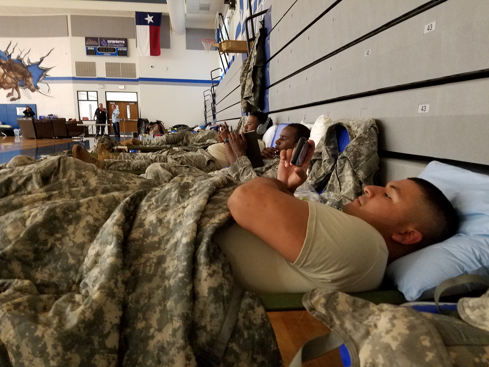 Texas National Guard soldiers respond to the aftermath of Hurricane Harvey on Aug. 25, 2017. (Staff Sgt. Tim Pruitt/National Guard)