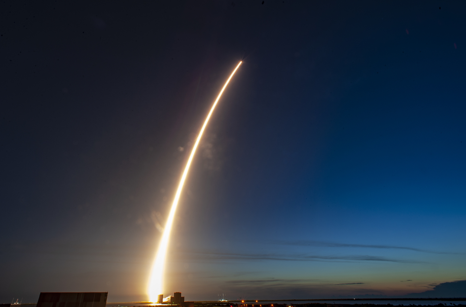 Space and Missile Systems Center of the U.S. Air Force's 5th Advanced Extreme High Frequency (AEHF-5 ) atop a United Launch Alliance's Atlas V rocket lifts off on Aug. 8, 2019 from Space Launch Complex-41 at Cape Canaveral Air Force Station, Fla. (DoD)