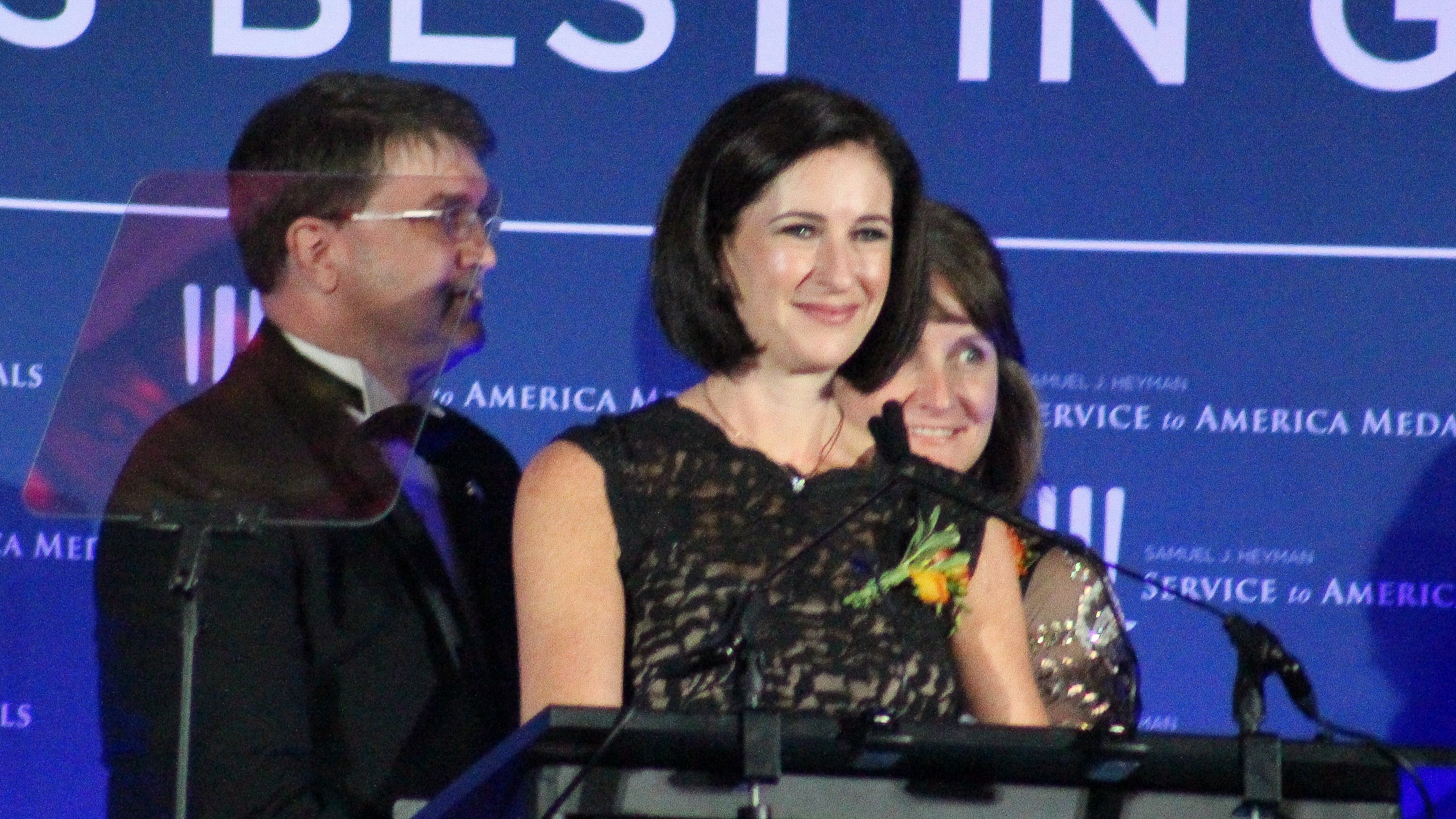 Marcella Jacobs, director of Digital Service at the Department of Veterans Affairs accepts the Management Excellence Medal at the 2018 Sammies Gala. (Jessie Bur/Staff)