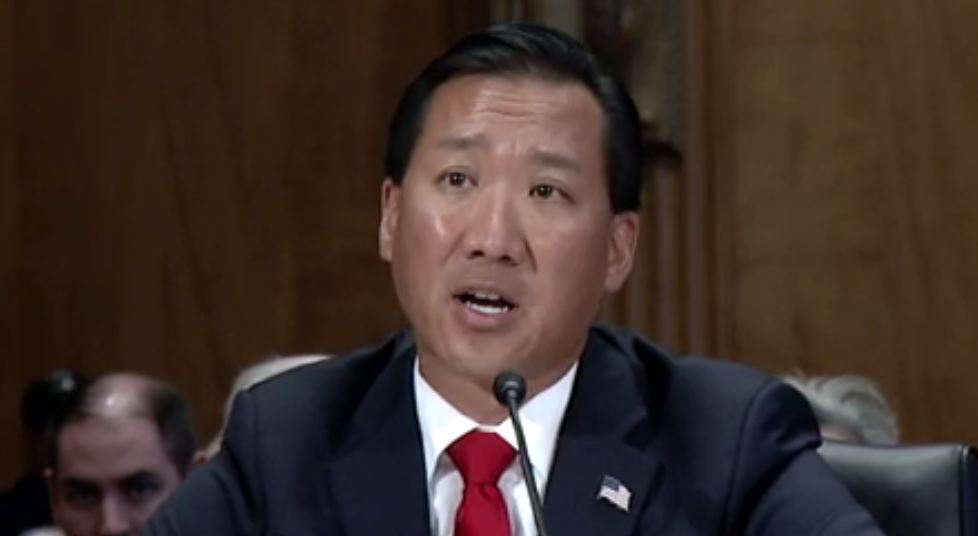 Nominee for director of the Office of Personnel Management, Jeff Pon, testified before the Senate Homeland Security and Government Affairs Committee on Oct. 18, 2017. (Photo credit: HSGAC)
