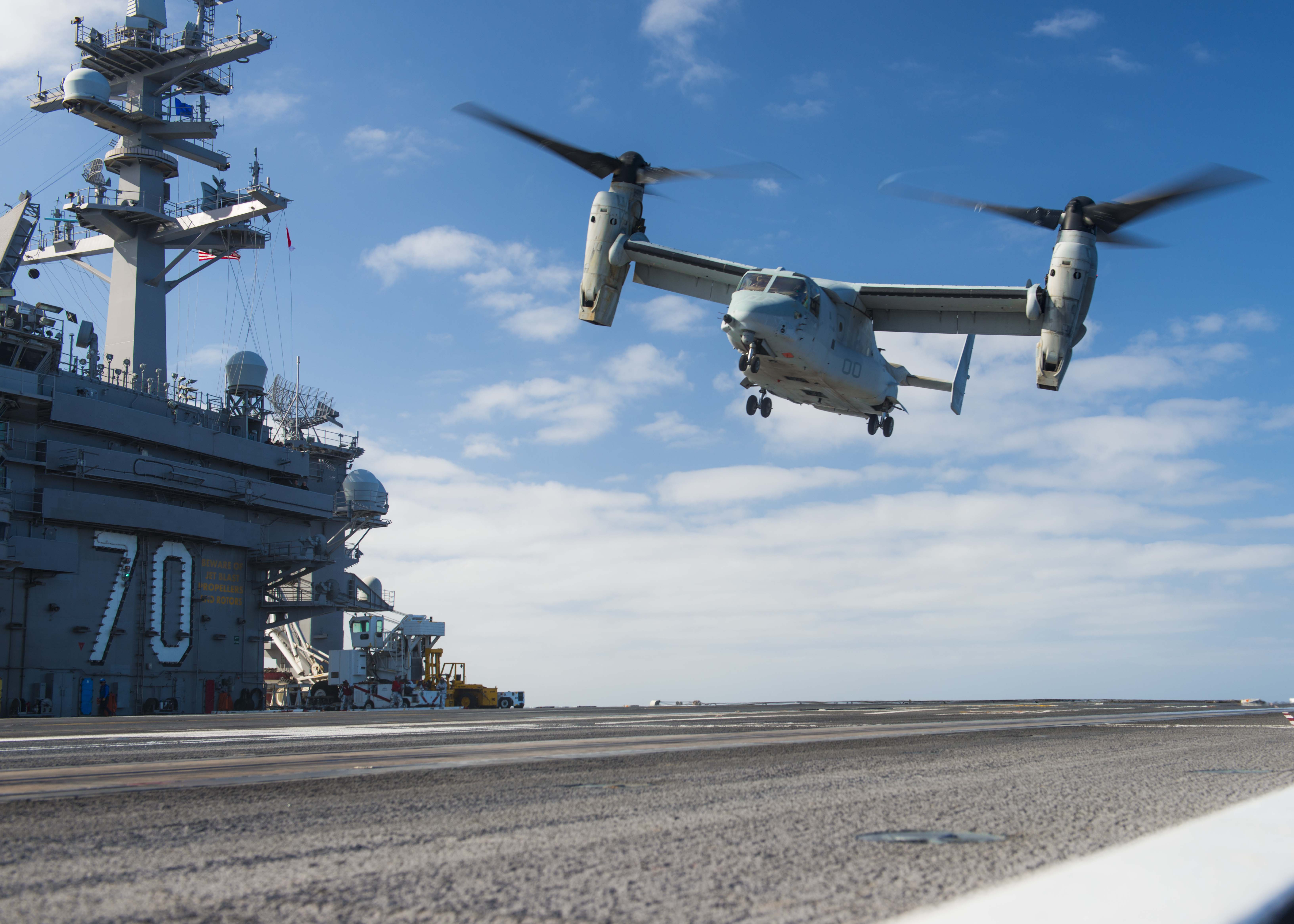 Osprey continues to prove itself in Navy carrier tests