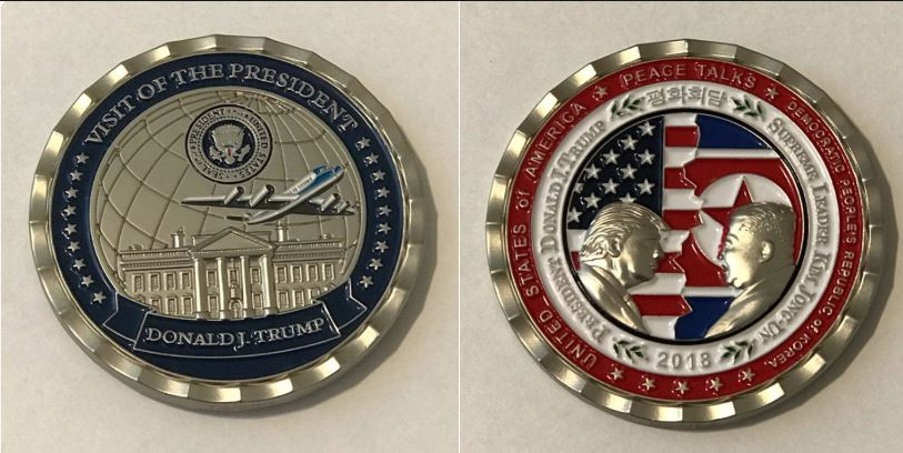 Here's the challenge coin for the North Korea-US summit that never was