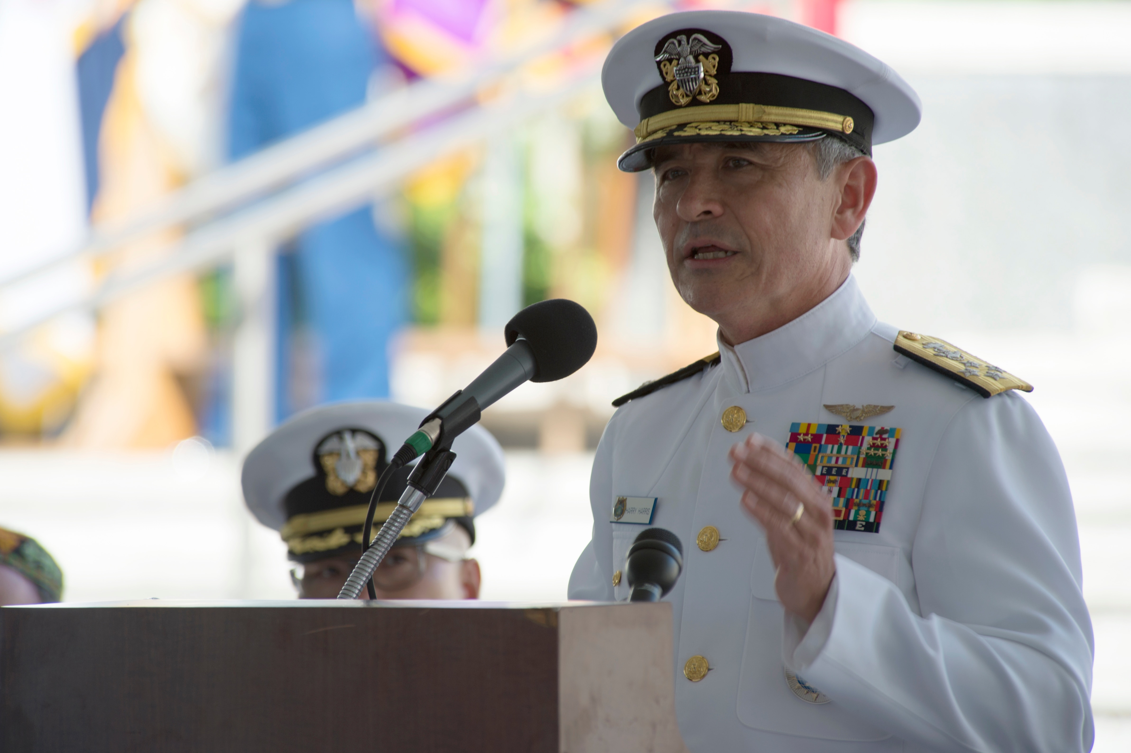 Adm. Harry Harris, the military's hard-line commander in the Pacific, comes to Capitol Hill