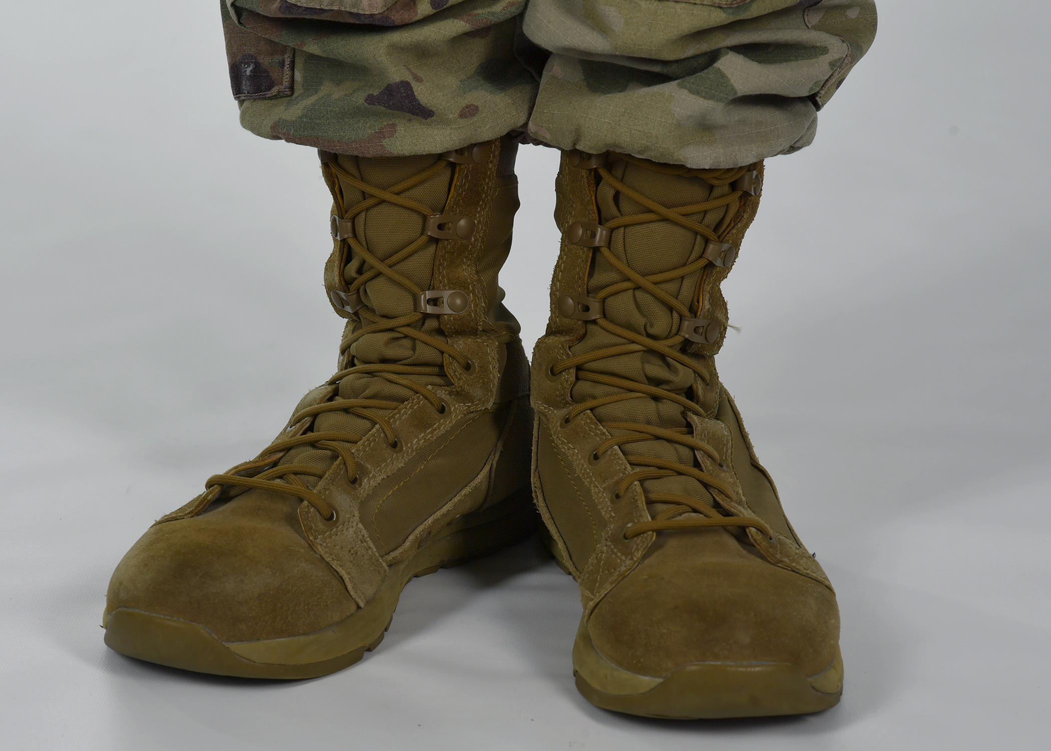 Airmen will wear coyote brown boots along with the OCP no later than June 2020. (Air Force)