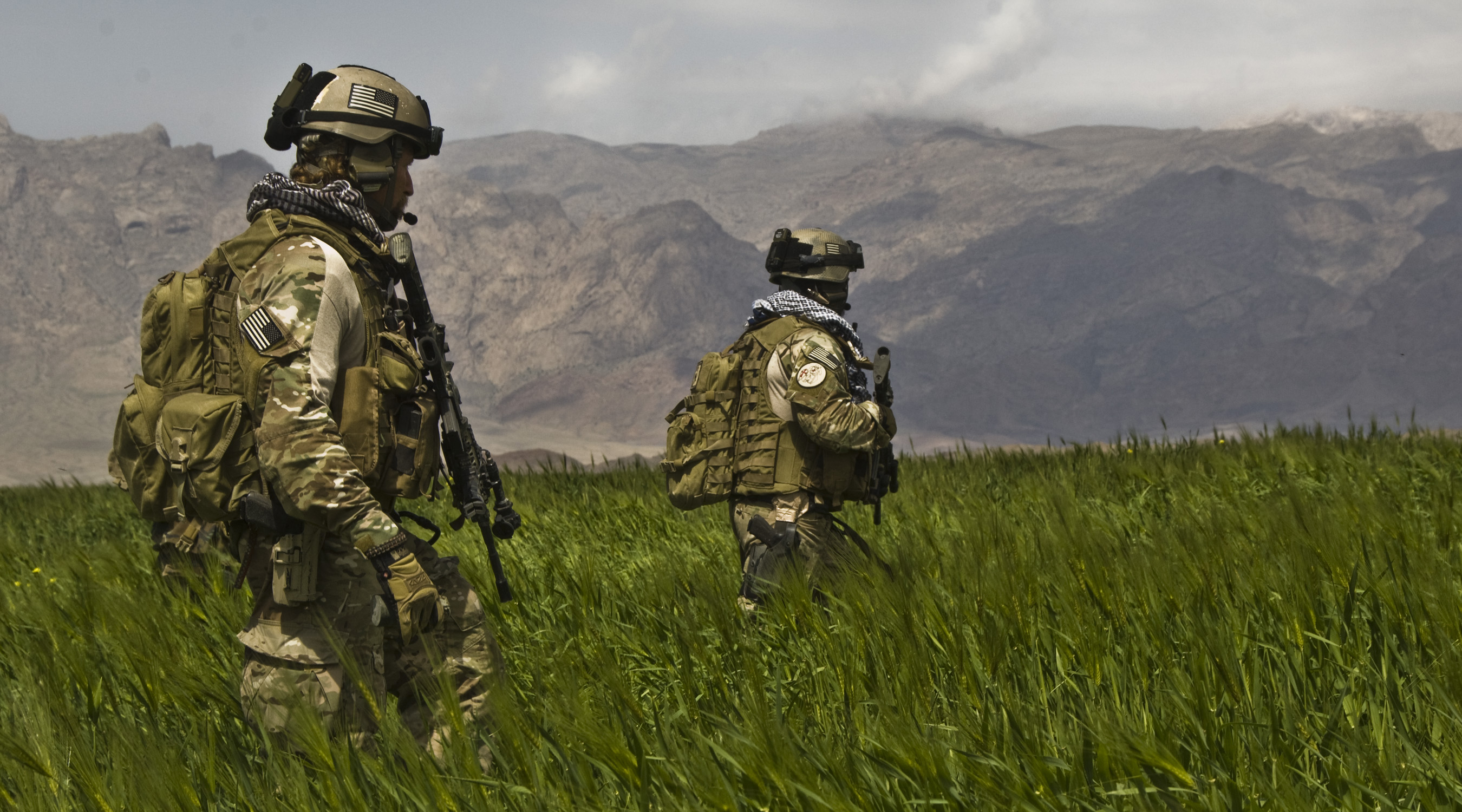 Afghan National Army (ANA) Commandos with the 207th Kandak conduct a patrol on April 12, 2009, in Gulistan district Farah province. On Monday, President Donald Trump unveiled his new strategy for the 16-year-old war there. (Spc. Joseph A. Wilson/Department of Defense)