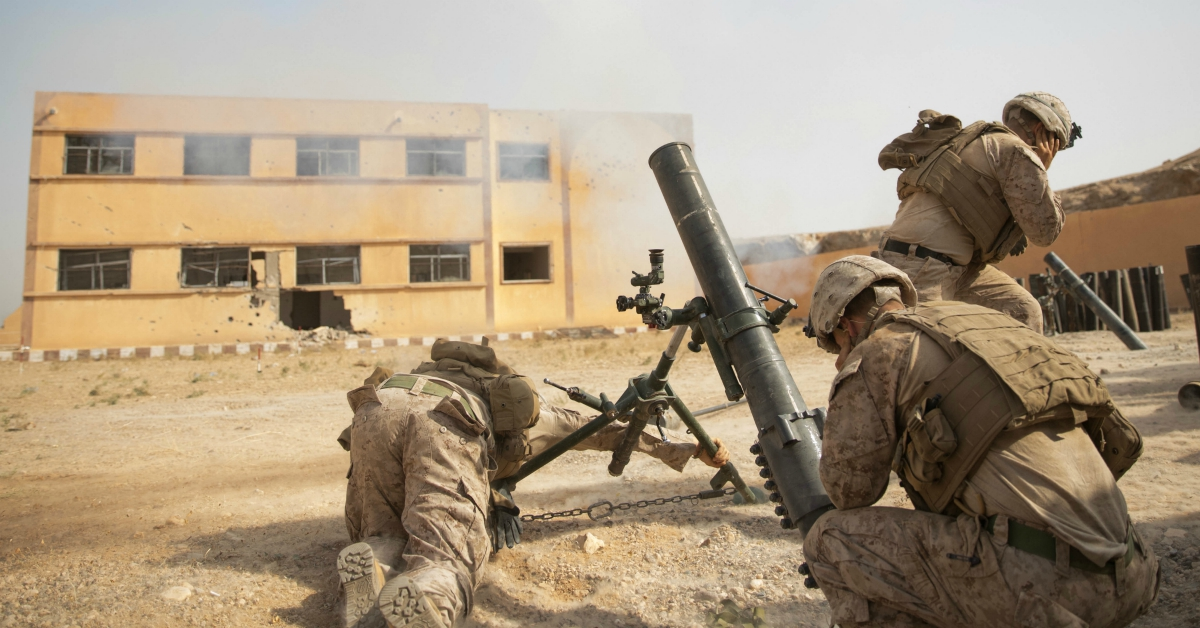 U.S. Marines fire a mortar round at an ISIS target in Syria in October. The White House has announced that it plans to keep about 200 troops in the country. (U.S. Army photo by Sgt. Matthew Crane)