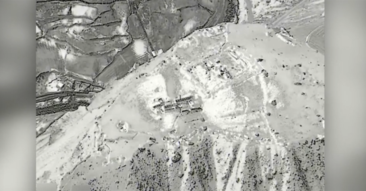 Watch as a B-52 takes out a Taliban training camp in Afghanistan