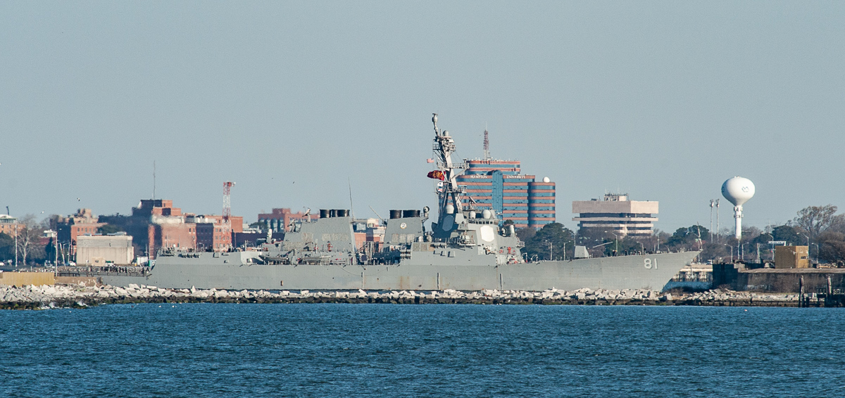 Destroyer Churchill deploys, Truman Strike Group up next