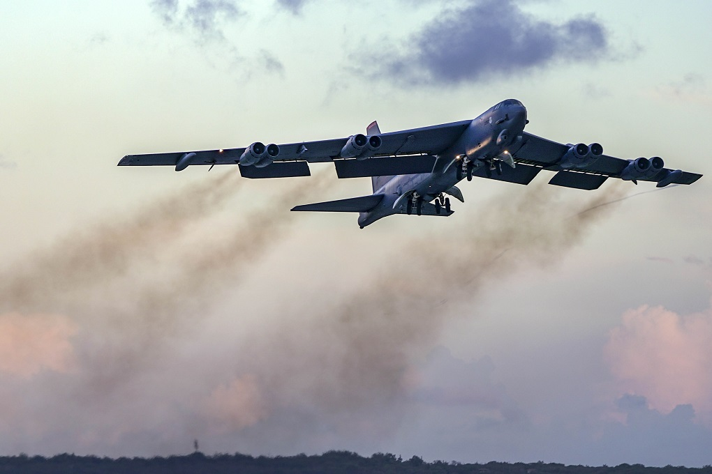 Air Force B-52 crew assists in search for missing sailors off the coast of Guam