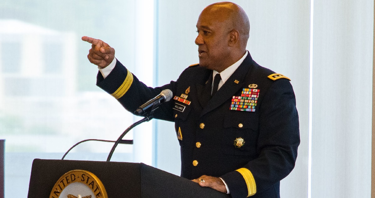 Lt. Gen. Darryl Williams assumes duties as the 60th superintendent of the U.S. Military Academy at West Point July 2, 2018. Williams is a 1983 Academy graduate. (Michelle Eberhart/Army)