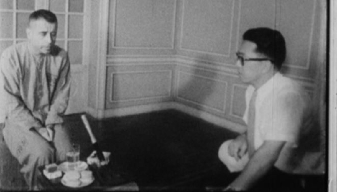 Then-Cmdr. Jeremiah Denton was interviewed by a Japanese television reporter on May 2, 1966, as part of a propaganda campaign orchestrated by the North Vietnamese. During the interview, he blinked