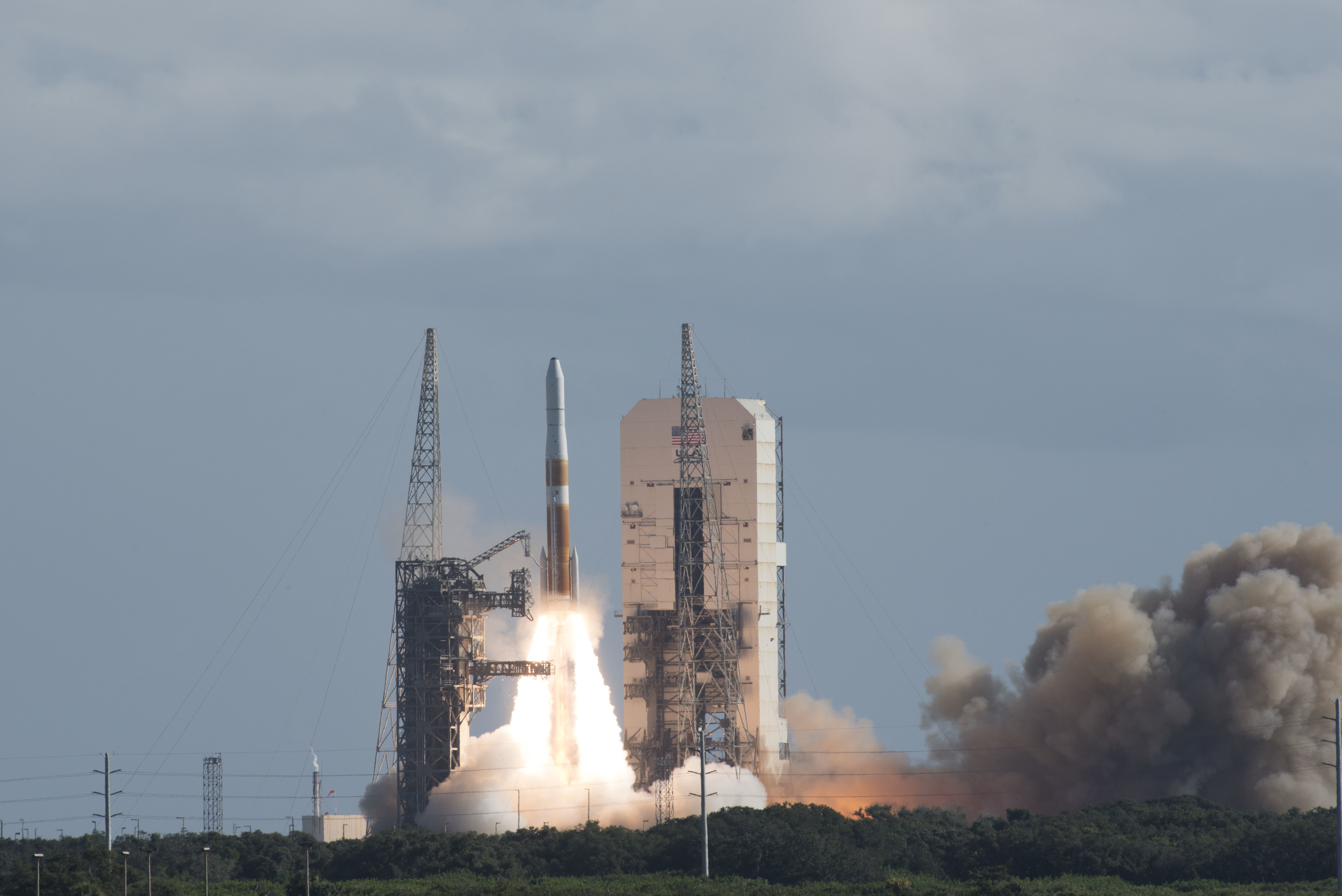 United Launch Alliance's Delta IV GPS III Magellan rocket launches from Cape Canaveral Air Force Station, Fla., on Aug. 22, 2019. (Airman 1st Class Dalton Williams/U.S. Air Force)