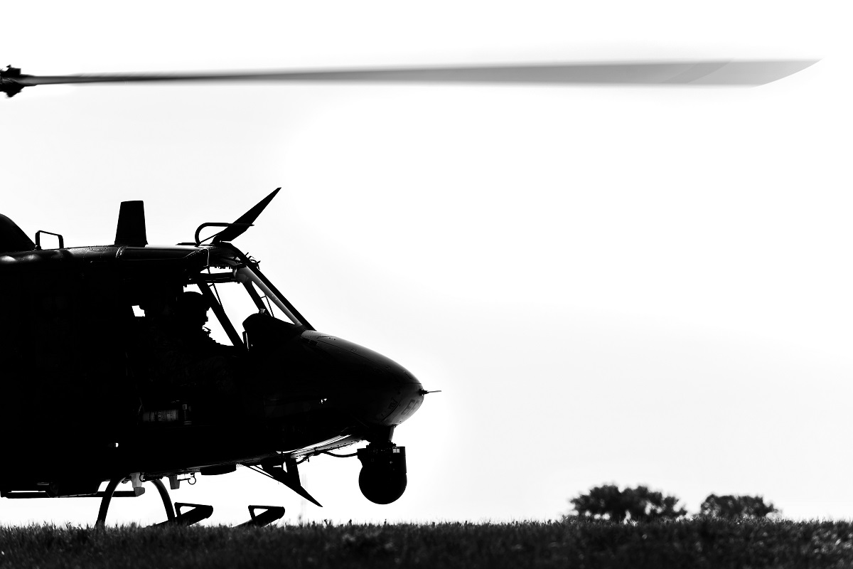 The UH-1N is a light-lift utility helicopter used to support various missions, including airlift of emergency security forces, security and surveillance of off-base nuclear weapons convoys, and distinguished visitor airlift. (Senior Airman J.T. Armstrong/U.S. Air Force)