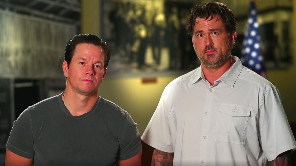 'Lone Survivor' duo Luttrell, Wahlberg spread word on veterans' online exchange benefit