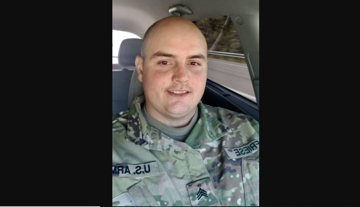 Sgt. William Friese, 30, a West Virginia Army National Guard soldier, died in Camp Buehring, Kuwait, due to a non-combat related incident on Thursday. (West Virginia Army National Guard)