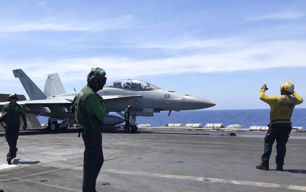 US carrier Roosevelt displays capabilities in disputed South China Sea