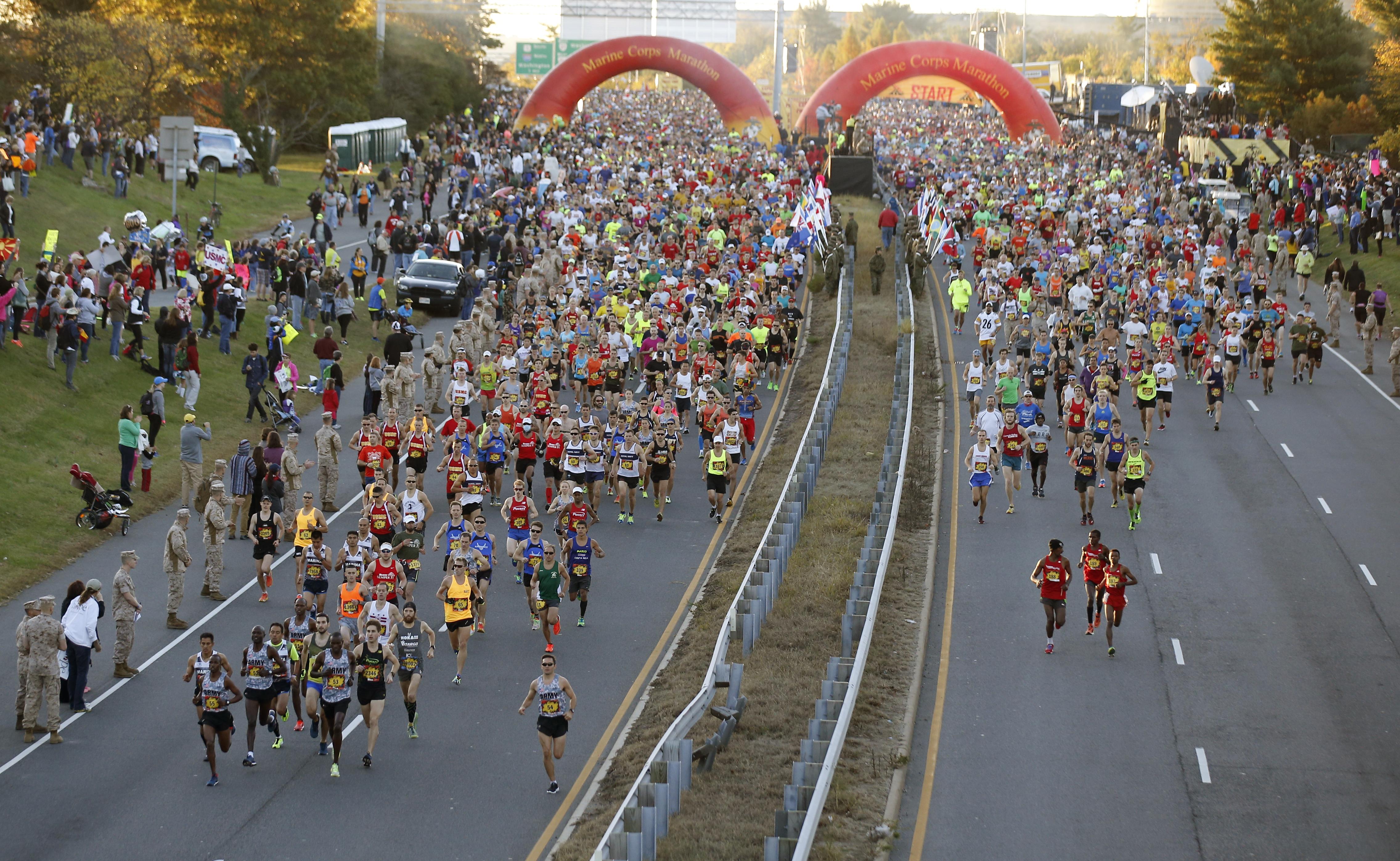 New routes for Marine Corps Marathon, 10K; start window ...