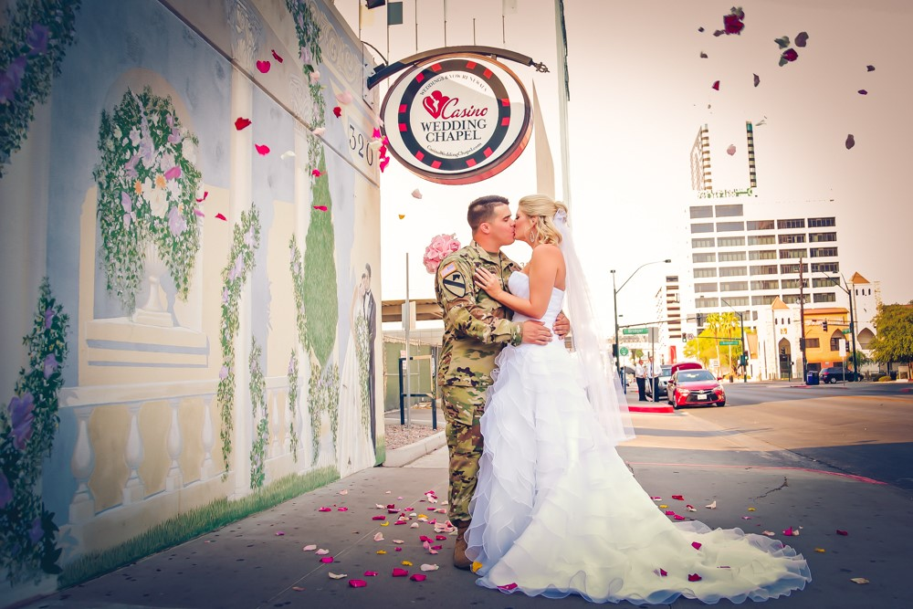 Military couples are invited to enter a contest to win a free wedding or vow renewal ceremony Nov. 10 in Las Vegas. Deadline for entry is Oct. 10. (Courtesy of the Las Vegas Wedding Chamber of Commerce)