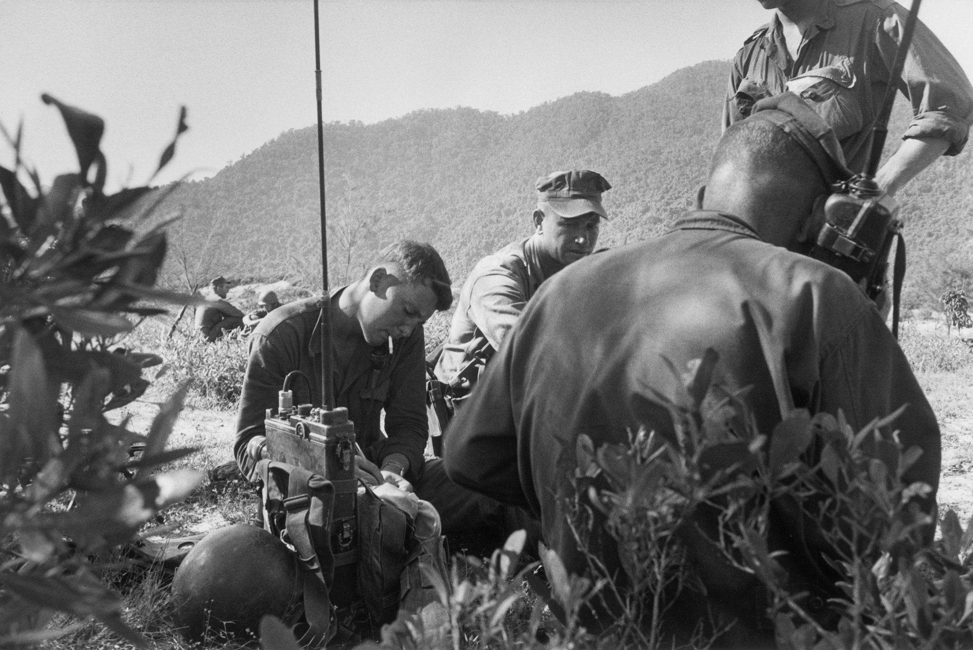 Marine radiomen in the field checking their equipment, 1965. (Wisconsin Historical Images 115595)